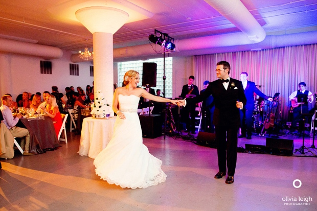 BDC's students, Alex and Charlotte, dancing at their wedding. Photo by Olivia Leigh.